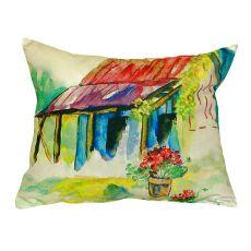 Barn & Geranium No Cord Pillow 16X20