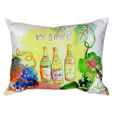 Wine Bottles No Cord Pillow 16X20