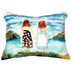 Twins On Rocks No Cord Pillow 16X20