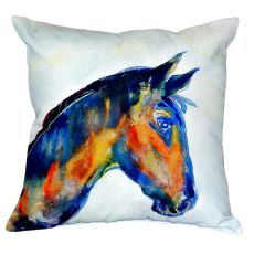Blue Horse No Cord Pillow 18X18