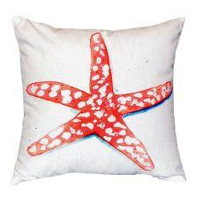 Coral Starfish No Cord Pillow 18X18