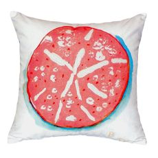 Coral Sand Dollar No Cord Pillow 18X18