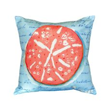 Coral Sand Dollar Blue No Cord Pillow 18X18