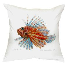 Lion Fish Guest Towel No Cord Pillow 18X18