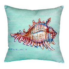 Conch - Teal No Cord Pillow 18X18