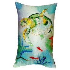 Betsy'S Sea Turtle No Cord Pillow 16X20