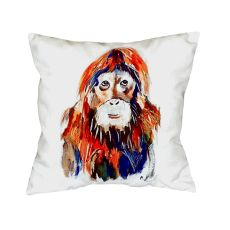 Orangutan No Cord Pillow 18X18