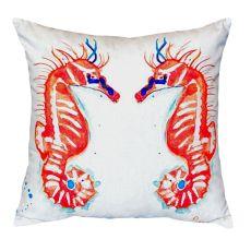 Coral Sea Horses No Cord Pillow 16X20