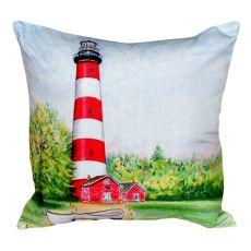 Chincoteague Lighthouse Va No Cord Pillow 18X18