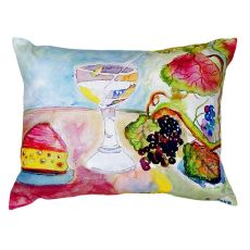 Wine & Cheese No Cord Pillow 16X20
