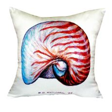 Nautilus Shell No Cord Pillow 18X18