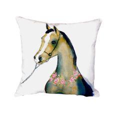 Horse & Garland No Cord Pillow 18X18