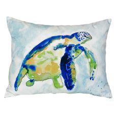Blue Sea Turtle No Cord Pillow 16X20