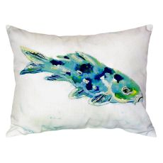 Blue Koi No Cord Pillow 16X20