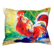 Red Rooster No Cord Pillow 16X20