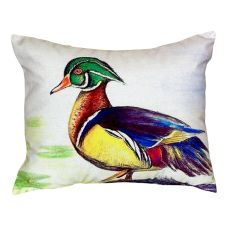 Male Wood Duck Script No Cord Pillow 16X20
