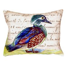 Female Wood Duck Script No Cord Pillow 16X20
