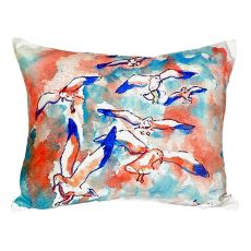 Gulls Flocking No Cord Pillow 16X20