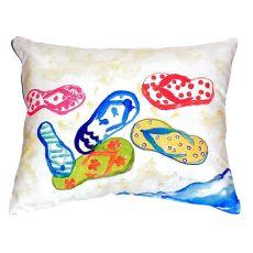 Six Flip Flops No Cord Pillow 18X18