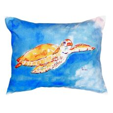 Brown Sea Turtle No Cord Pillow 16X20