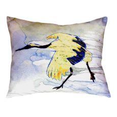 Yellow Crane No Cord Pillow 16X20