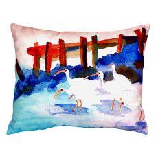 White Ibises No Cord Pillow 16X20