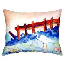 Great White Heron No Cord Pillow 16X20