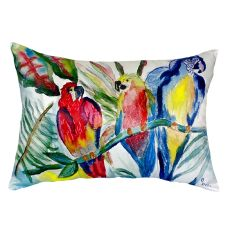 Parrot Family No Cord Pillow 16X20