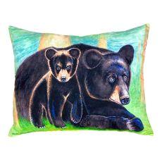 Bear & Cub No Cord Pillow 16X20