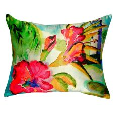 Lighthouse And Florals No Cord Pillow 16X20