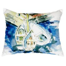 Three Row Boats No Cord Pillow 16X20