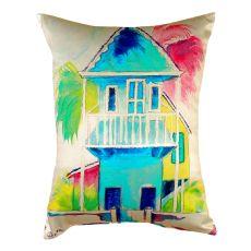 W. Palm Hut Blue No Cord Pillow 16X20