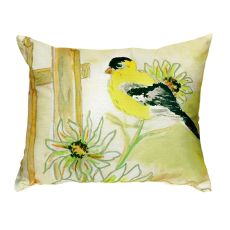 Betsy'S Goldfinch No Cord Pillow 16X20