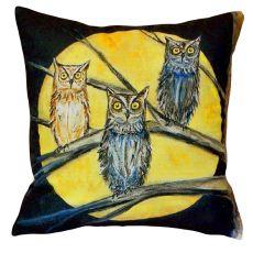 Night Owls No Cord Pillow 18X18