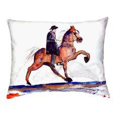 Brown Walking Horse No Cord Pillow 16X20