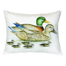 Mallard Family No Cord Pillow 18X18