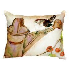 Carolina Wren No Cord Pillow 16X20