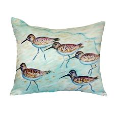 Sandpipers No Cord Pillow 18X18