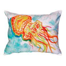 Orange Jellyfish No Cord Pillow 16X20