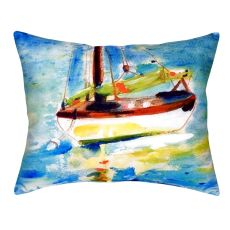 Yellow Sailboat No Cord Pillow 16X20
