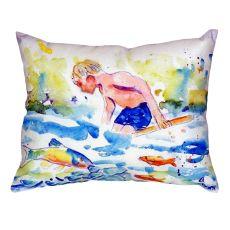 Boy & Fish No Cord Pillow 18X18