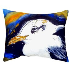 Gull Portrait Left No Cord Pillow 16X20