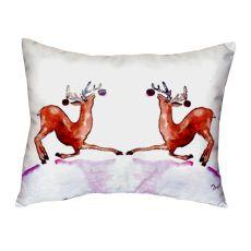 Dancing Deer No Cord Pillow 16X20