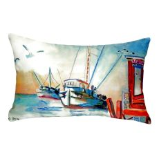 Shrimp Boat No Cord Pillow 16X20