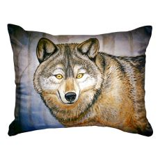 Grey Wolf No Cord Pillow 16X20