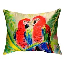 Two Parrots No Cord Pillow 16X20