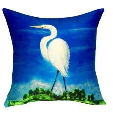 Great Egret No Cord Pillow 18X18