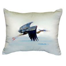 Eddie'S Blue Heron No Cord Pillow 16X20