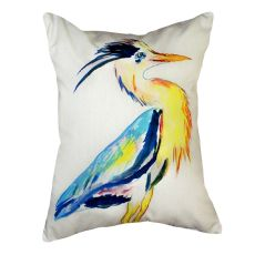Vertical Blue Heron No Cord Pillow 16X20