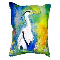 D&B'S Blue Heron No Cord Pillow 16X20